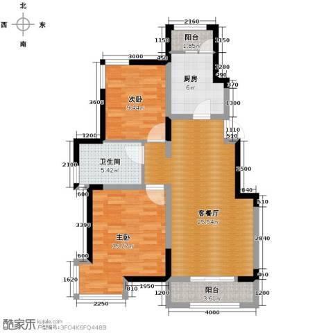 卓达・太阳城2室2厅1卫0厨86.00㎡户型图