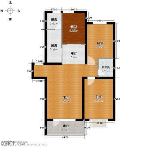 香醇・波尔多2室2厅1卫0厨98.00㎡户型图