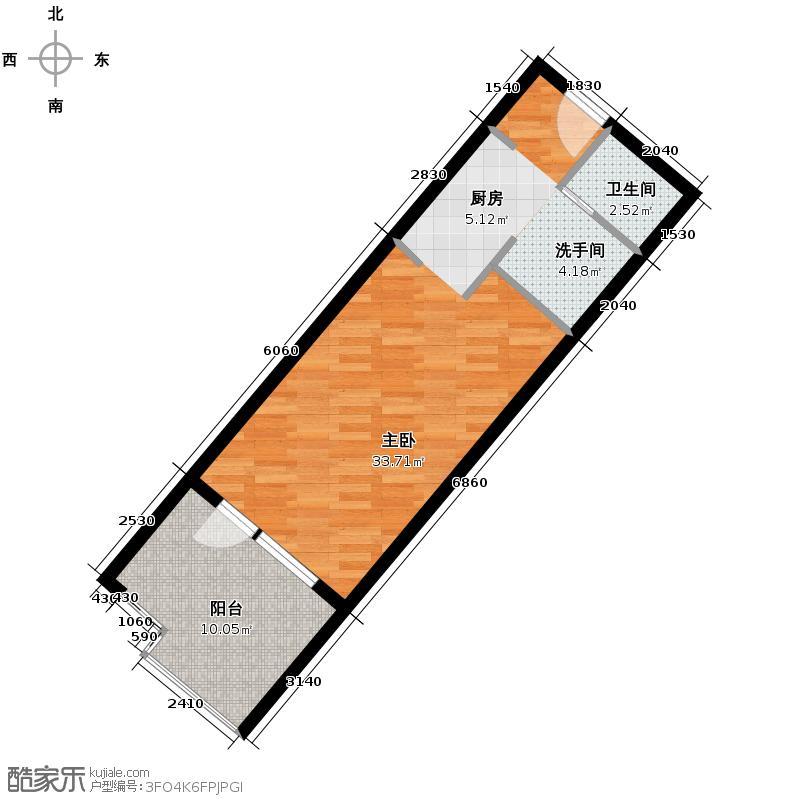 恒泰・时间海54.00㎡5、6号楼F户型10室