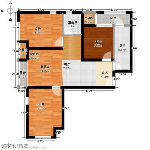 首尔・甜城3室0厅1卫1厨98.00㎡户型图