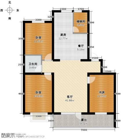 香醇・波尔多3室2厅1卫0厨115.00㎡户型图