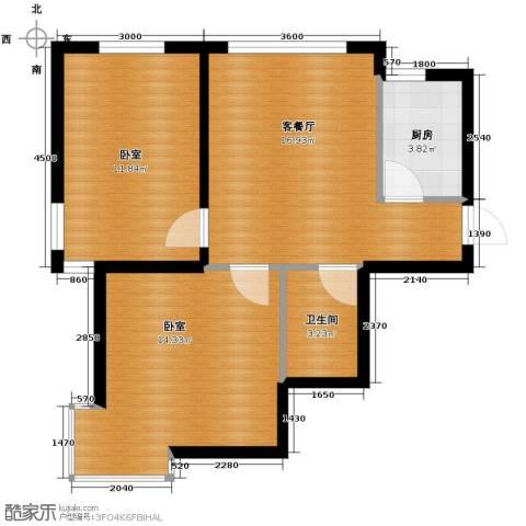 西堤国际1厅1卫1厨79.00㎡户型图