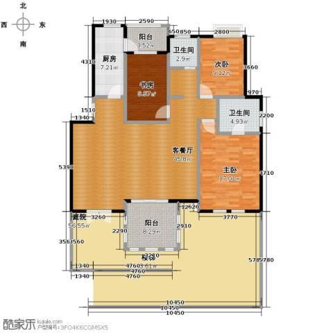 小骆花园3室1厅2卫1厨150.00㎡户型图