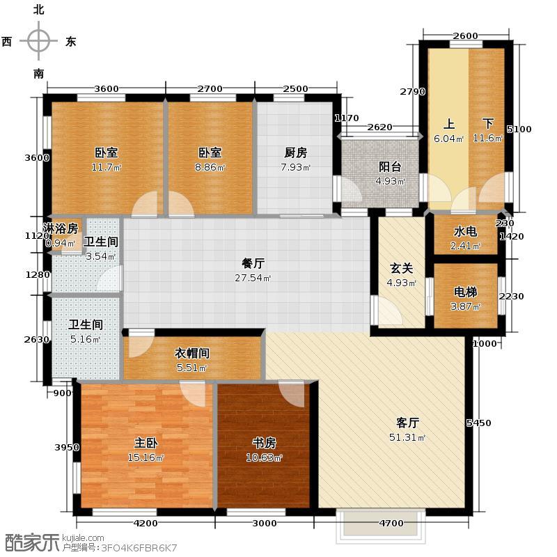 太阳世家166.00㎡洋房C户型4室2厅2卫