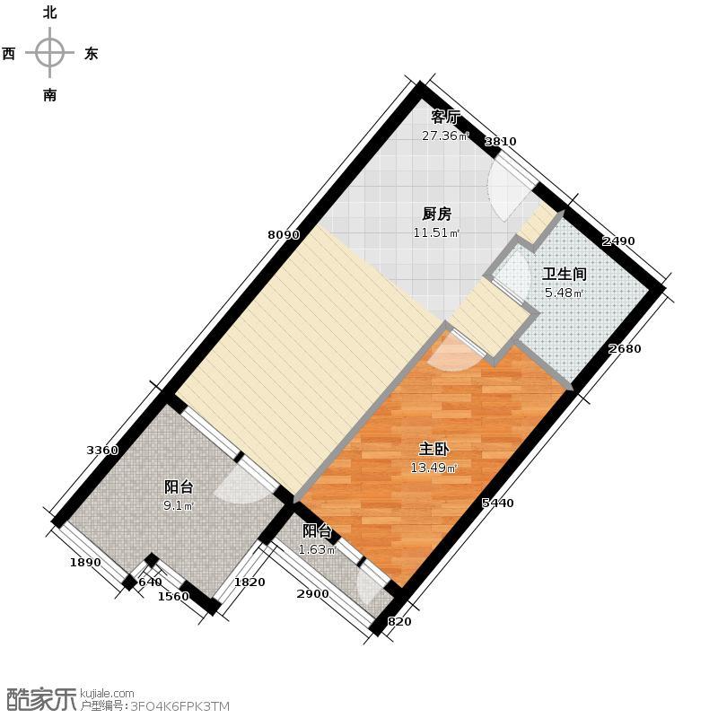 恒泰・时间海74.00㎡2、3号楼G户型10室