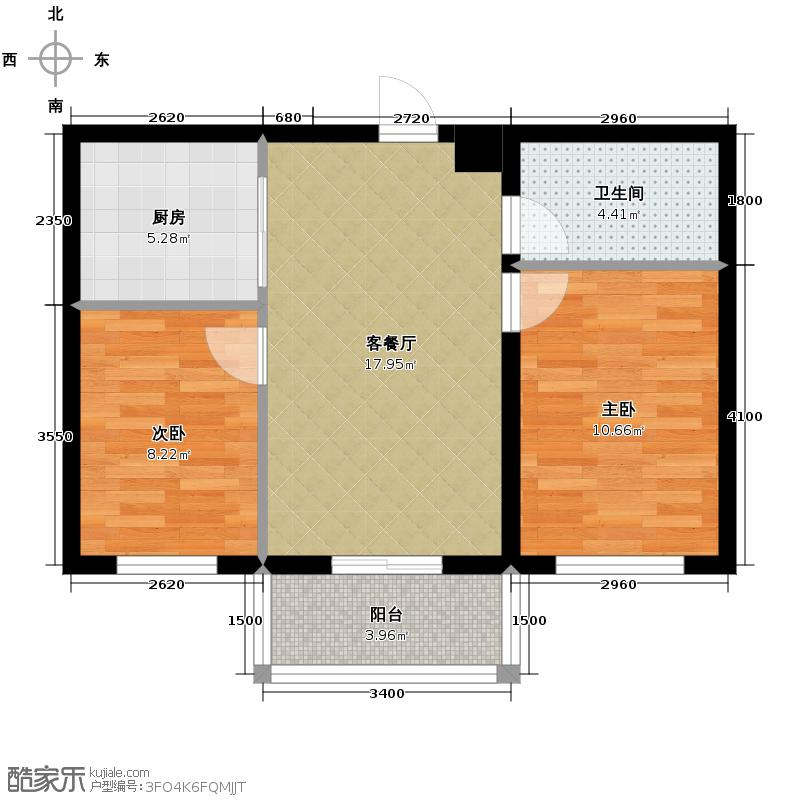 春城家园68.71㎡A户型2室1厅1卫