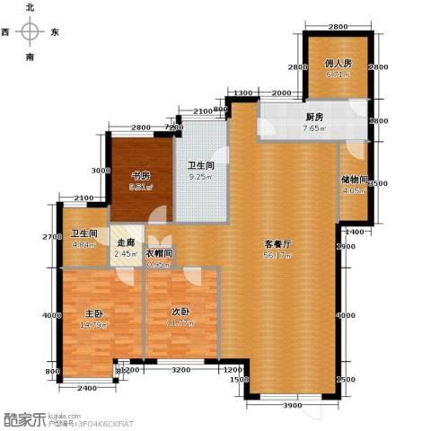 泰莱香榭里3室1厅2卫1厨146.00㎡户型图