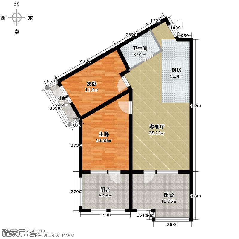 恒泰・时间海107.00㎡2、3号楼A户型10室
