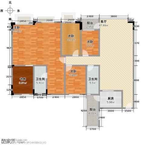 蓝色海岸5室1厅2卫1厨161.00㎡户型图