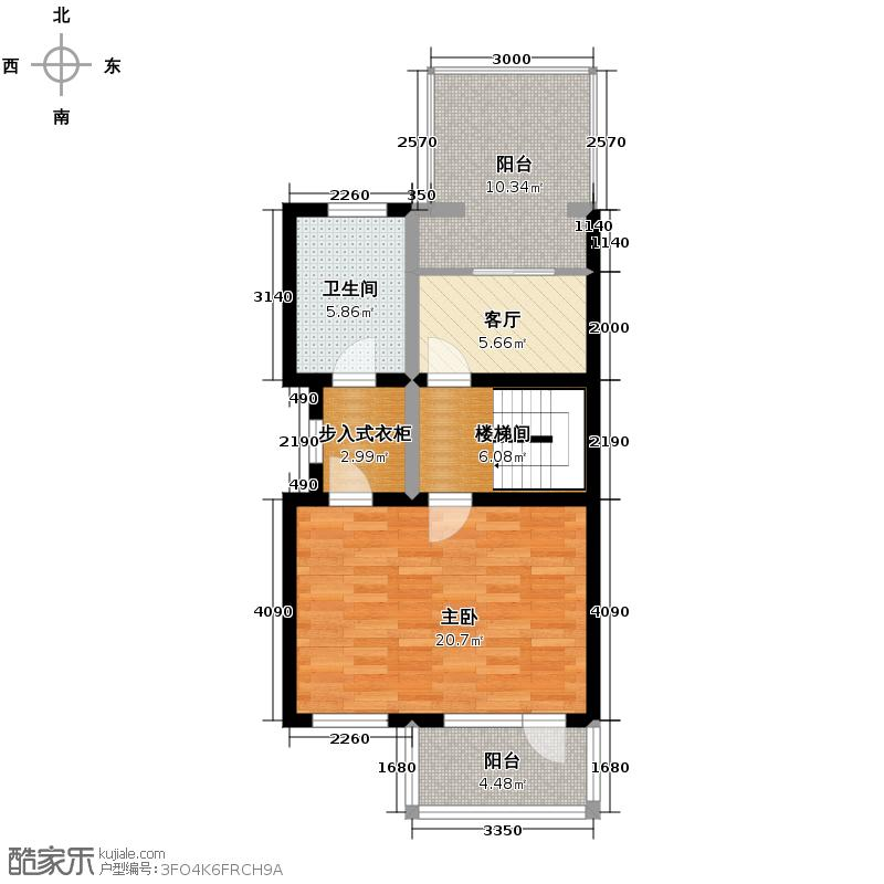 牛驼温泉孔雀城65.18㎡逸泉联院a三层户型10室