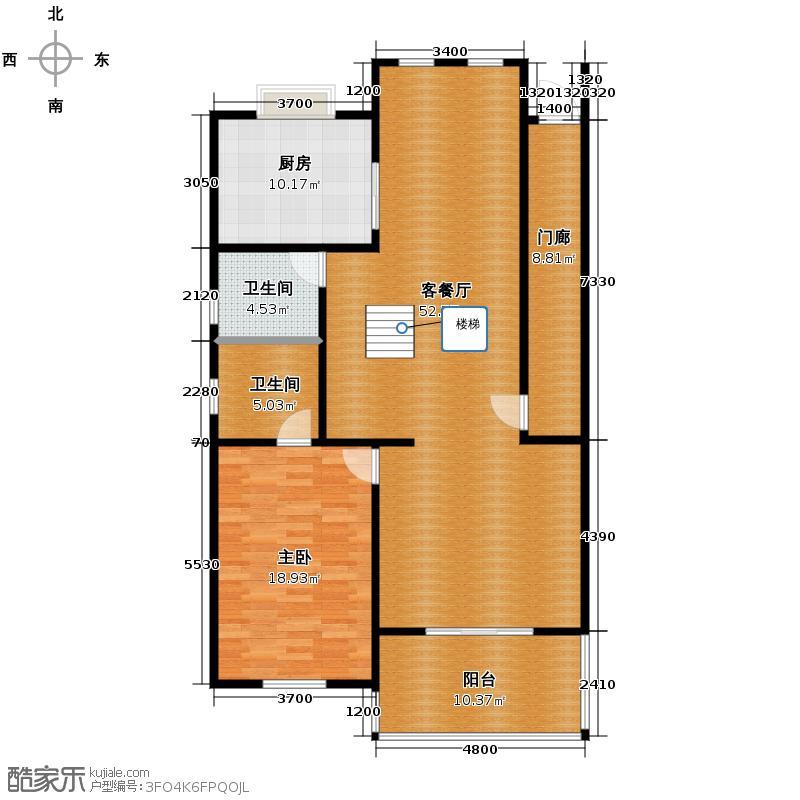 绿洲湾8号210.00㎡叠拼B一层户型10室