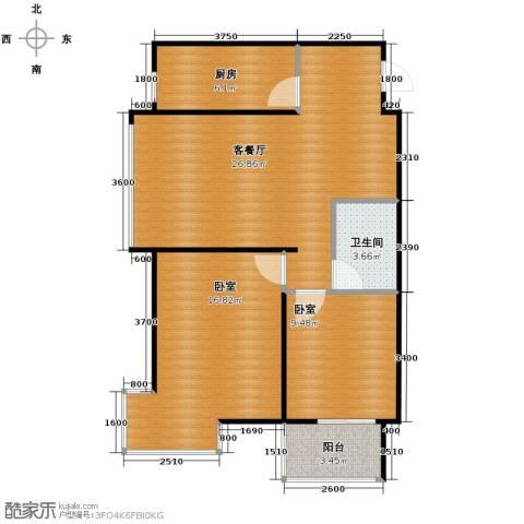 西堤国际1厅1卫1厨88.00㎡户型图