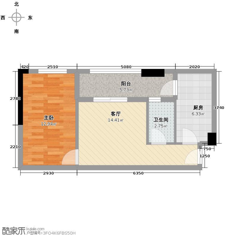 锦隆花园58.03㎡户型10室