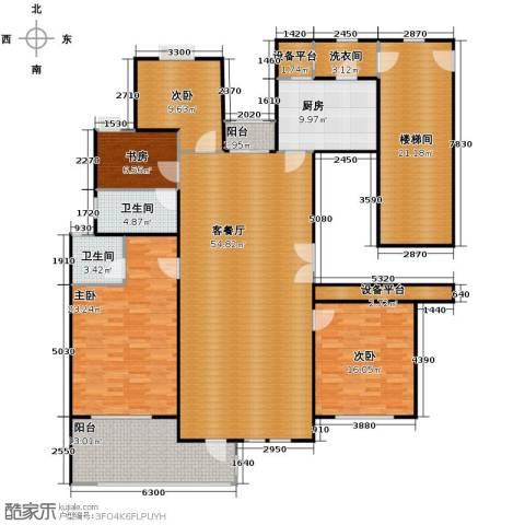 百隆东外滩花园174.00㎡户型图