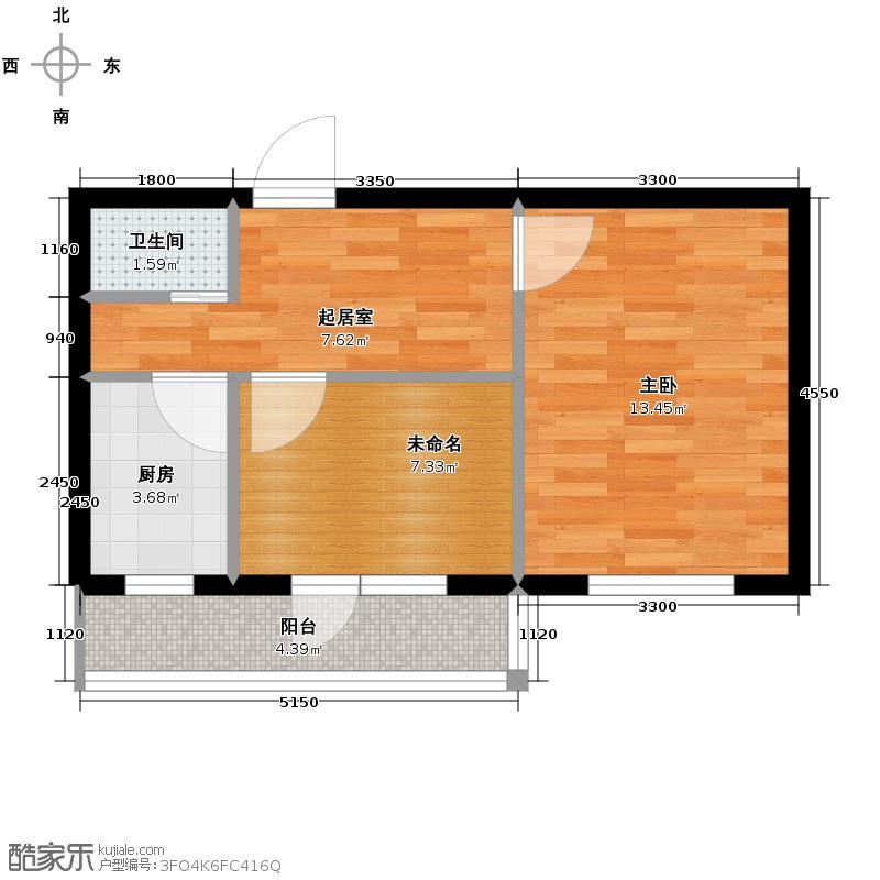 中安美寓56.72㎡小高层D户型1室1厅1卫