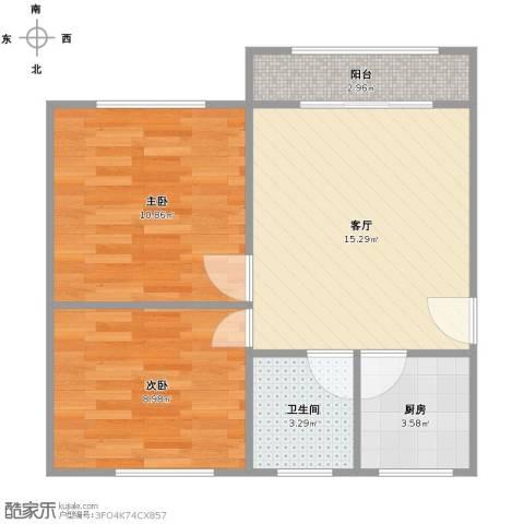 宝山九村2室1厅1卫1厨61.00㎡户型图