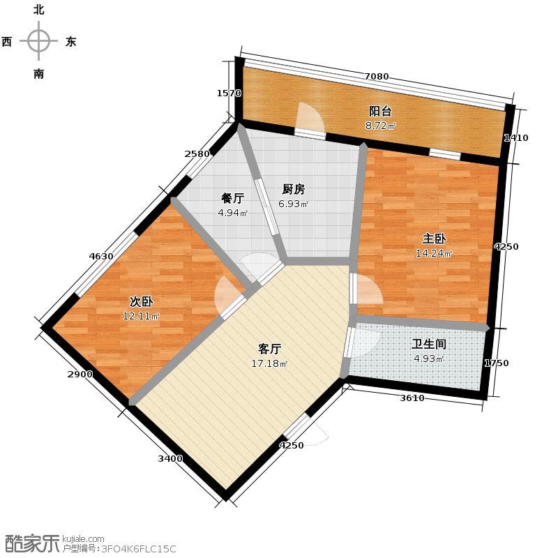 广厦摩卡公馆94.42㎡D3/A3户型10室