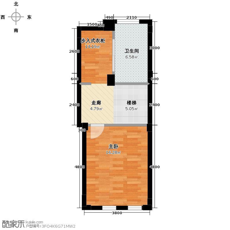 郡原相江公寓186.00㎡D-A2二层户型4室2厅2卫