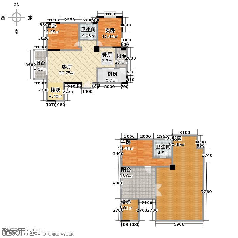 富豪新岸129.00㎡K25+6层户型3室1厅2卫1厨
