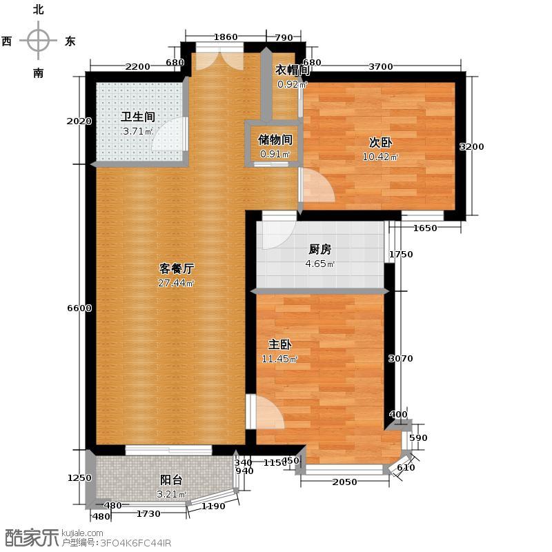 天洋城4代89.80㎡图为B2反户型10室