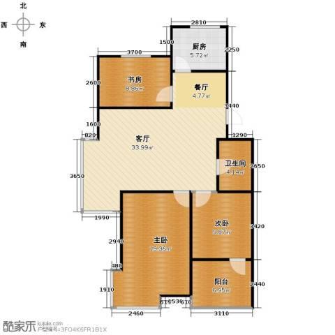 瑞赛居圣苑3室1厅1卫1厨98.00㎡户型图