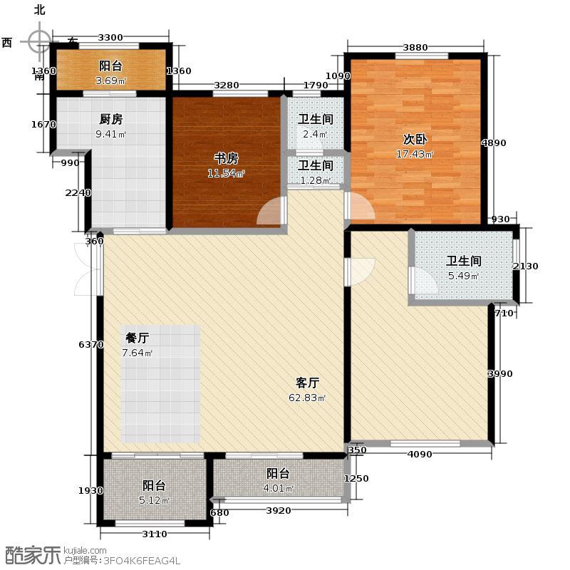 重汽・莱蒙湖160.00㎡L2五层户型3室2厅2卫