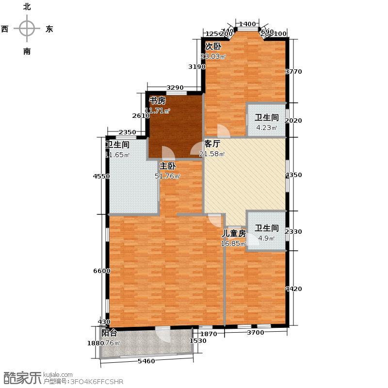 中信城399.00㎡山居三层户型3室1厅1卫