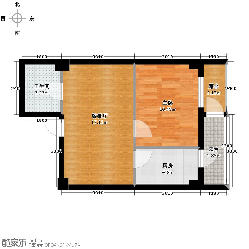 广厦摩卡公馆55.79㎡E5/B4/B4'户型10室