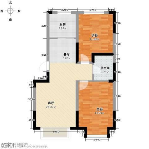 力旺美林2室2厅1卫0厨85.00㎡户型图