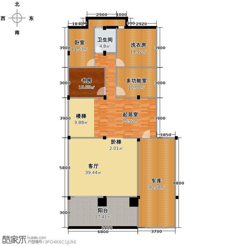 新明半岛265.00㎡涵碧园B2地下室户型4室3厅6卫