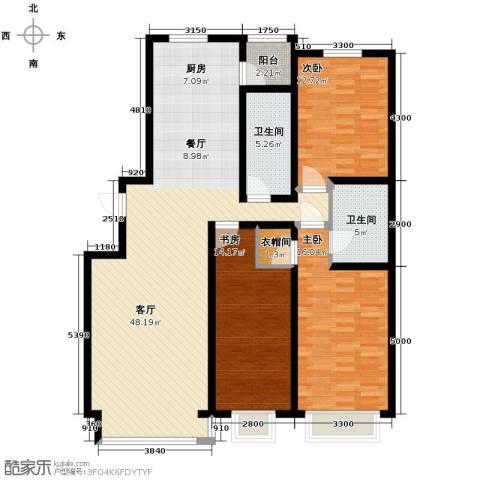 好景山庄3室2厅2卫0厨147.00㎡户型图