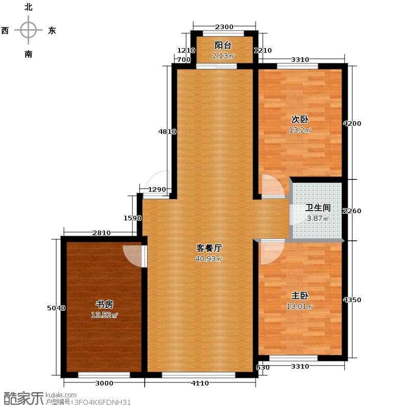 虹馆118.20㎡G户型3室2厅2卫