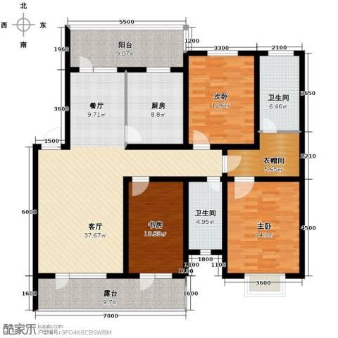 香醇・波尔多3室2厅1卫0厨143.00㎡户型图