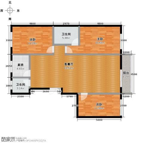 多伦多花园3室1厅2卫1厨144.00㎡户型图