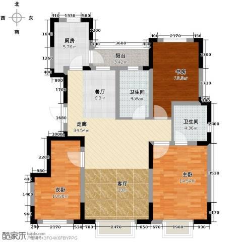 力旺美林3室2厅2卫0厨120.00㎡户型图