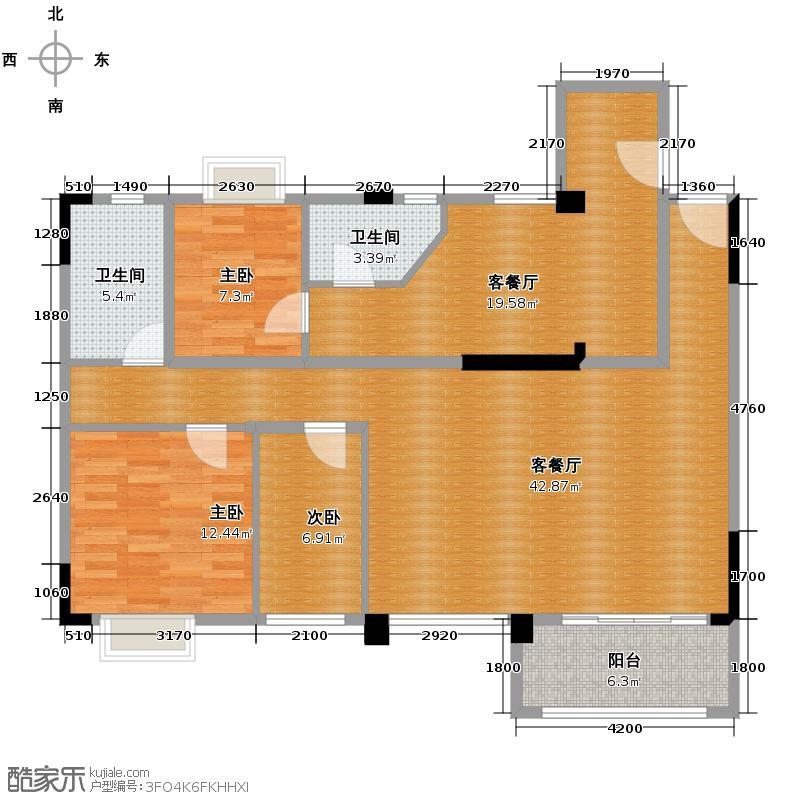御�上院121.85㎡1-3座/13-15座04+05单位户型4室2厅2卫