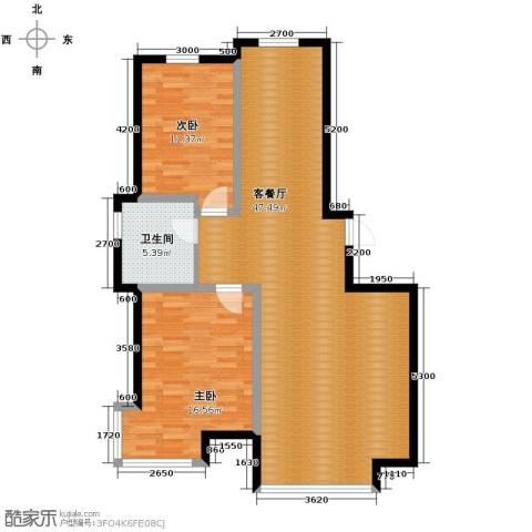 好景山庄2室1厅1卫0厨112.00㎡户型图