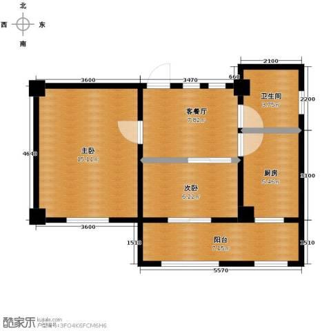 天伦中央广场2室1厅1卫0厨71.00㎡户型图