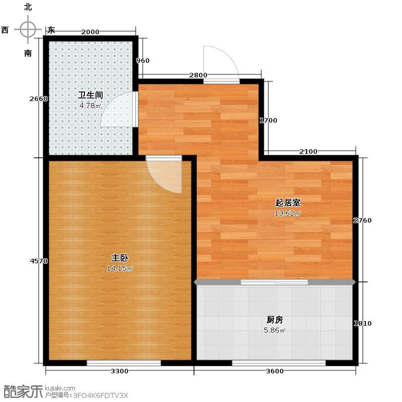 虹馆41.63㎡户型10室