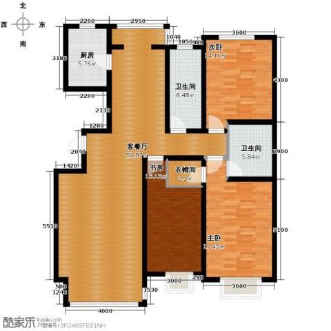 好景山庄3室2厅2卫0厨153.00㎡户型图