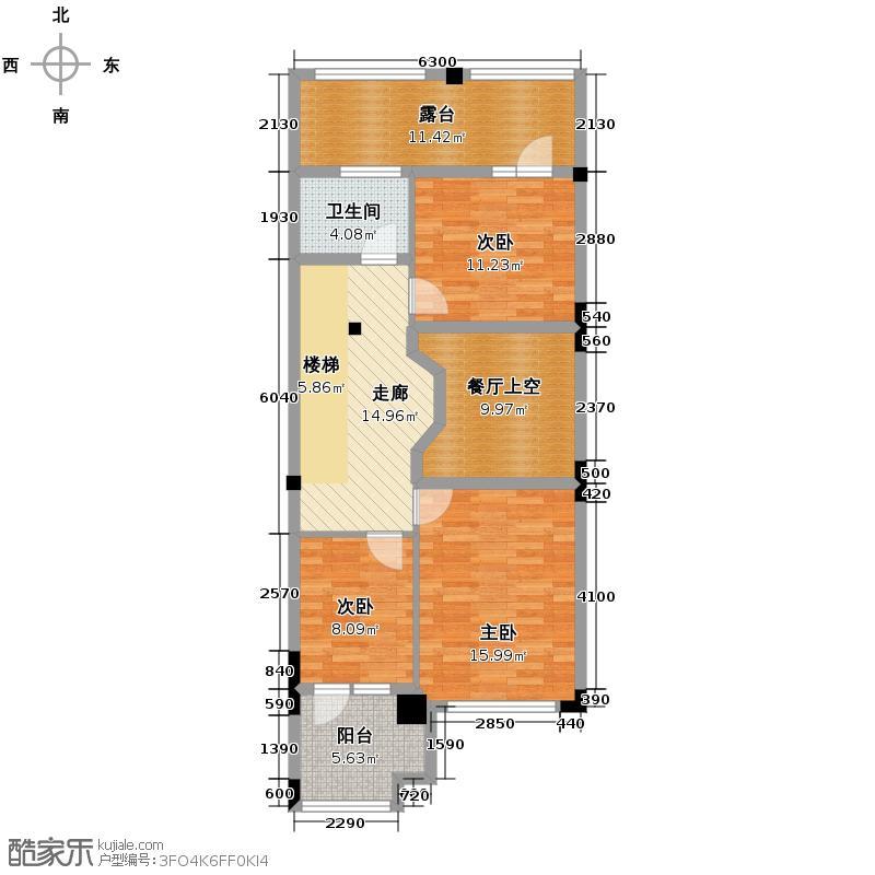 中海龙湾93.75㎡六联中户二层户型10室