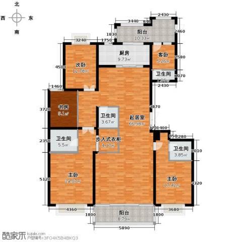 联邦・御景江山5室0厅4卫1厨255.00㎡户型图
