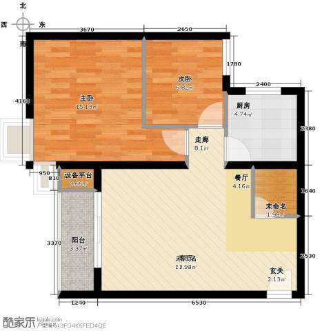 上上城青年社区二期2室0厅0卫1厨82.00㎡户型图