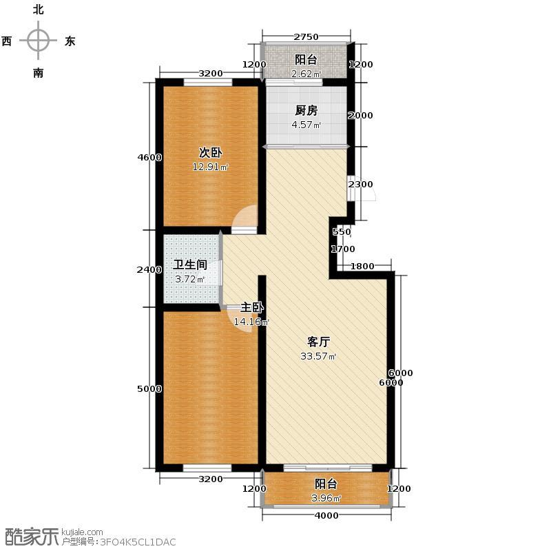 枫林逸景86.06㎡DC-2户型2室1厅1卫1厨