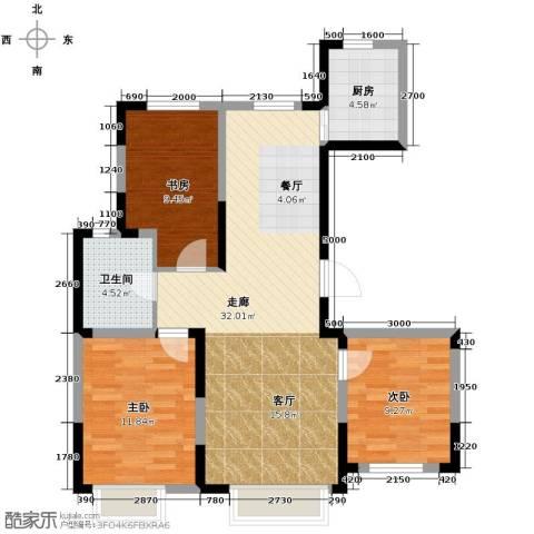 力旺美林3室2厅1卫0厨106.00㎡户型图