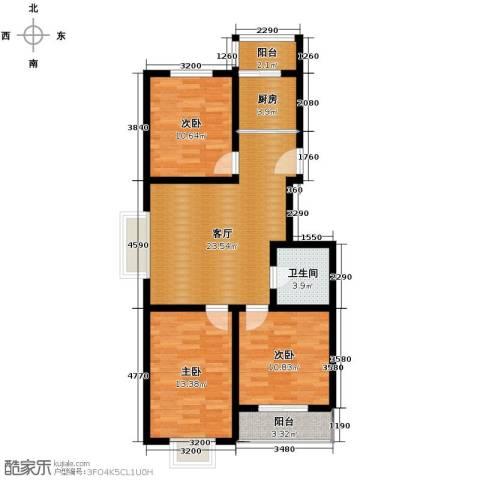 枫林逸景3室1厅1卫1厨104.00㎡户型图