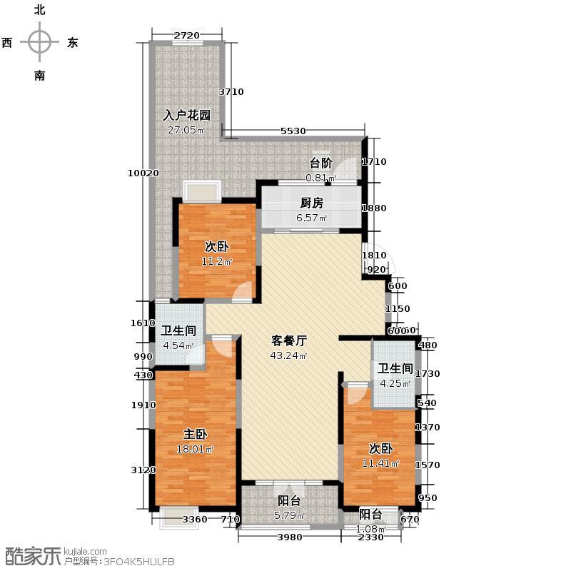 融科贻锦台140.00㎡A1户型3室2厅2卫