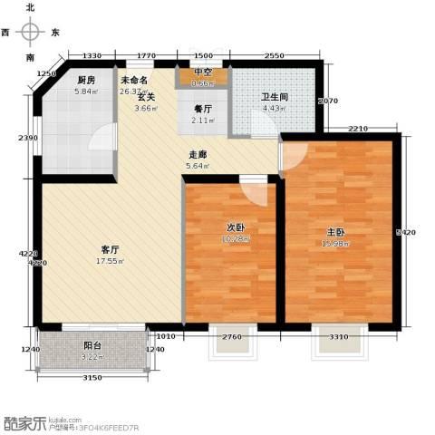 上上城青年社区二期2室0厅1卫1厨93.00㎡户型图