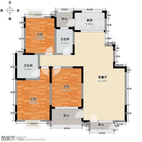 融科贻锦台3室2厅2卫0厨132.00㎡户型图