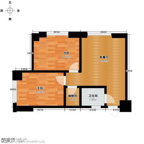 天伦中央广场2室2厅1卫0厨70.00㎡户型图